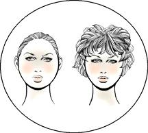 Прически для круглой формы лица у женщин