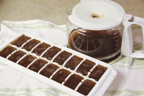 Кофейный лед для умывания по утрам